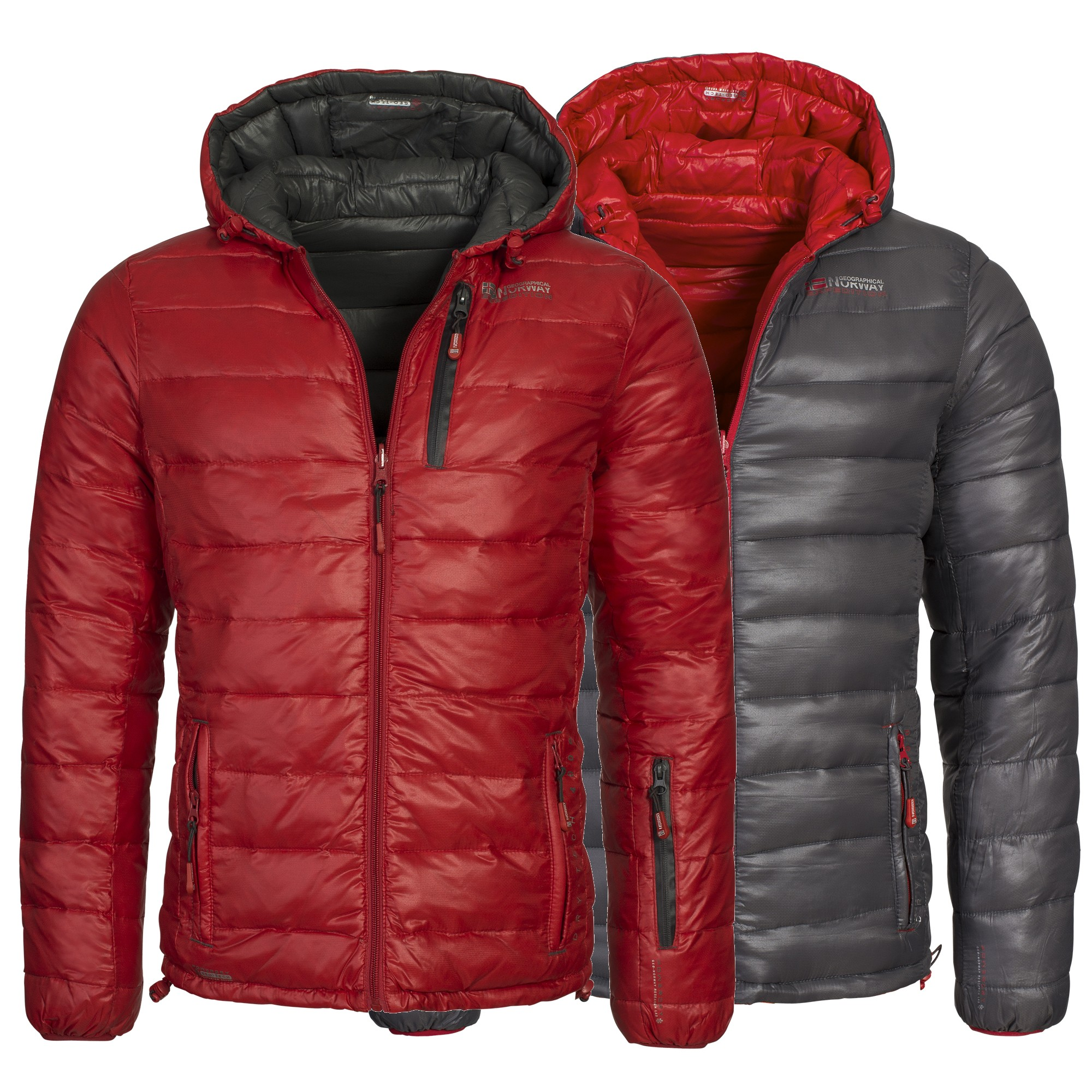 geographical norway herren daunenjacke steppjacke winterjacke wende jacke ebay. Black Bedroom Furniture Sets. Home Design Ideas