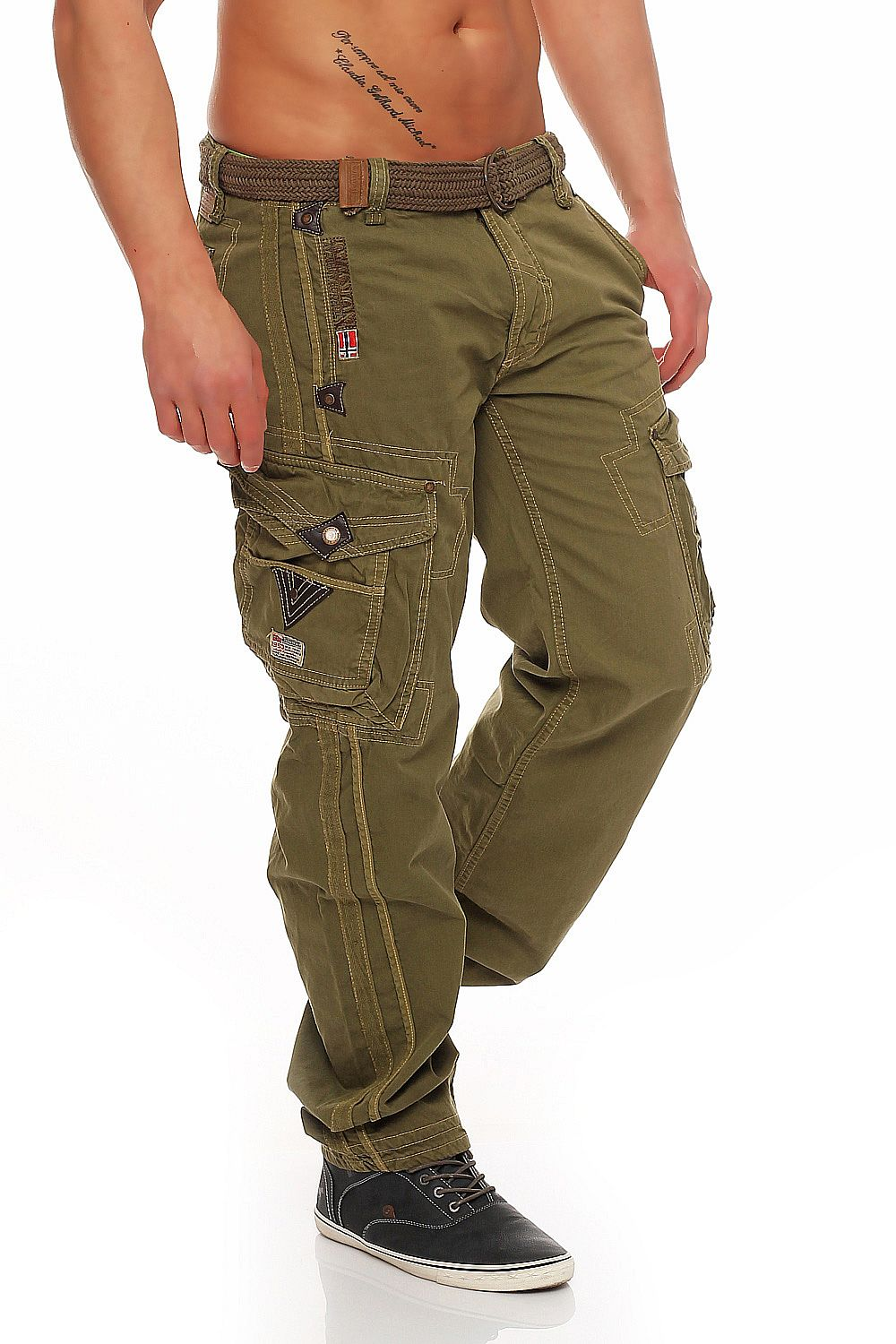 Geographical-Norway-Herren-Hose-Perle-Cargo-Pant-Cargohose-S-M-L-XL-XXL