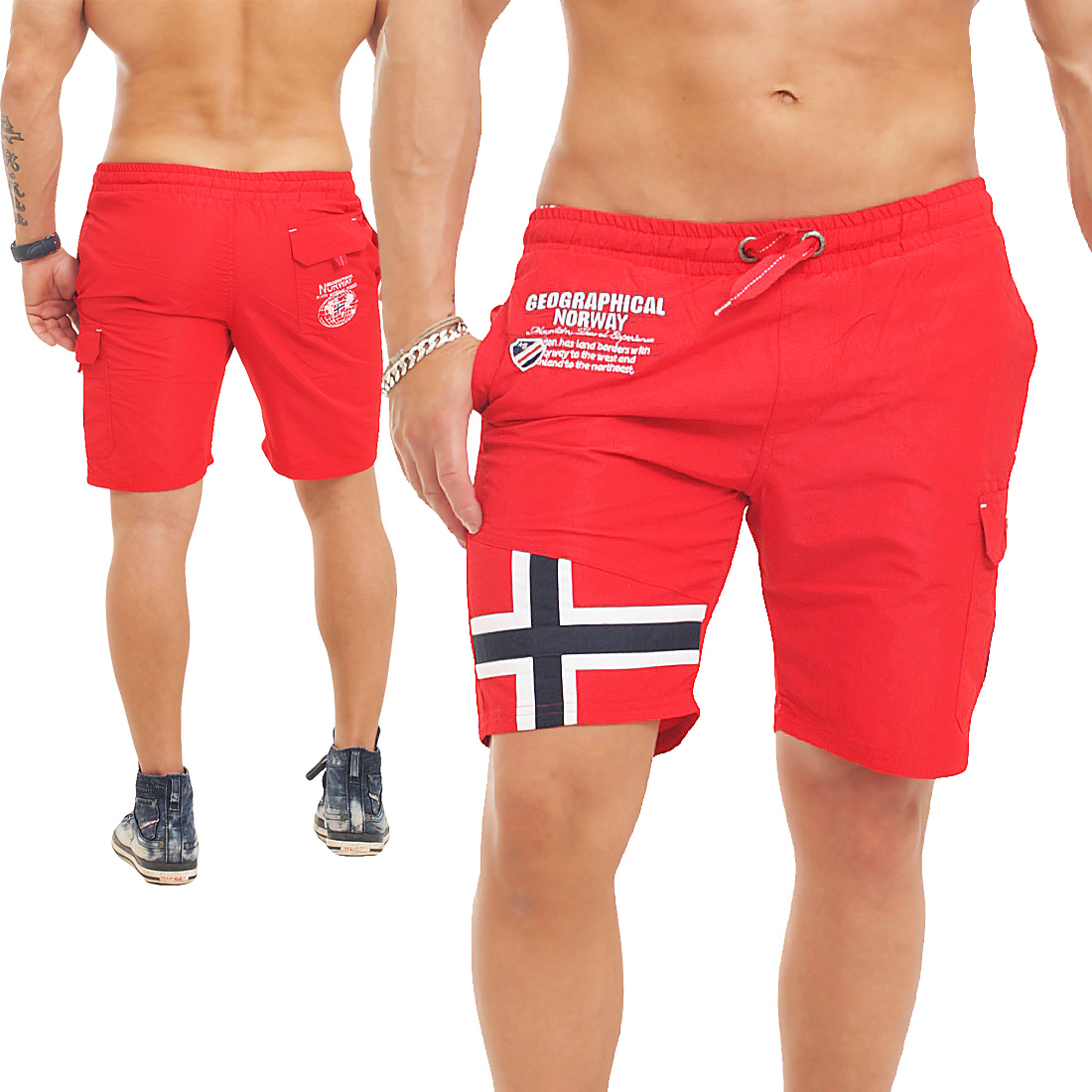 geographical norway badehose badeshort short quafto shorts. Black Bedroom Furniture Sets. Home Design Ideas