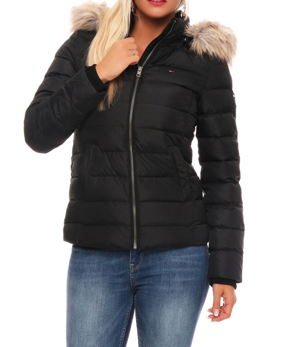 details about tommy hilfiger basic down damen winter jacke daunenjacke. Black Bedroom Furniture Sets. Home Design Ideas