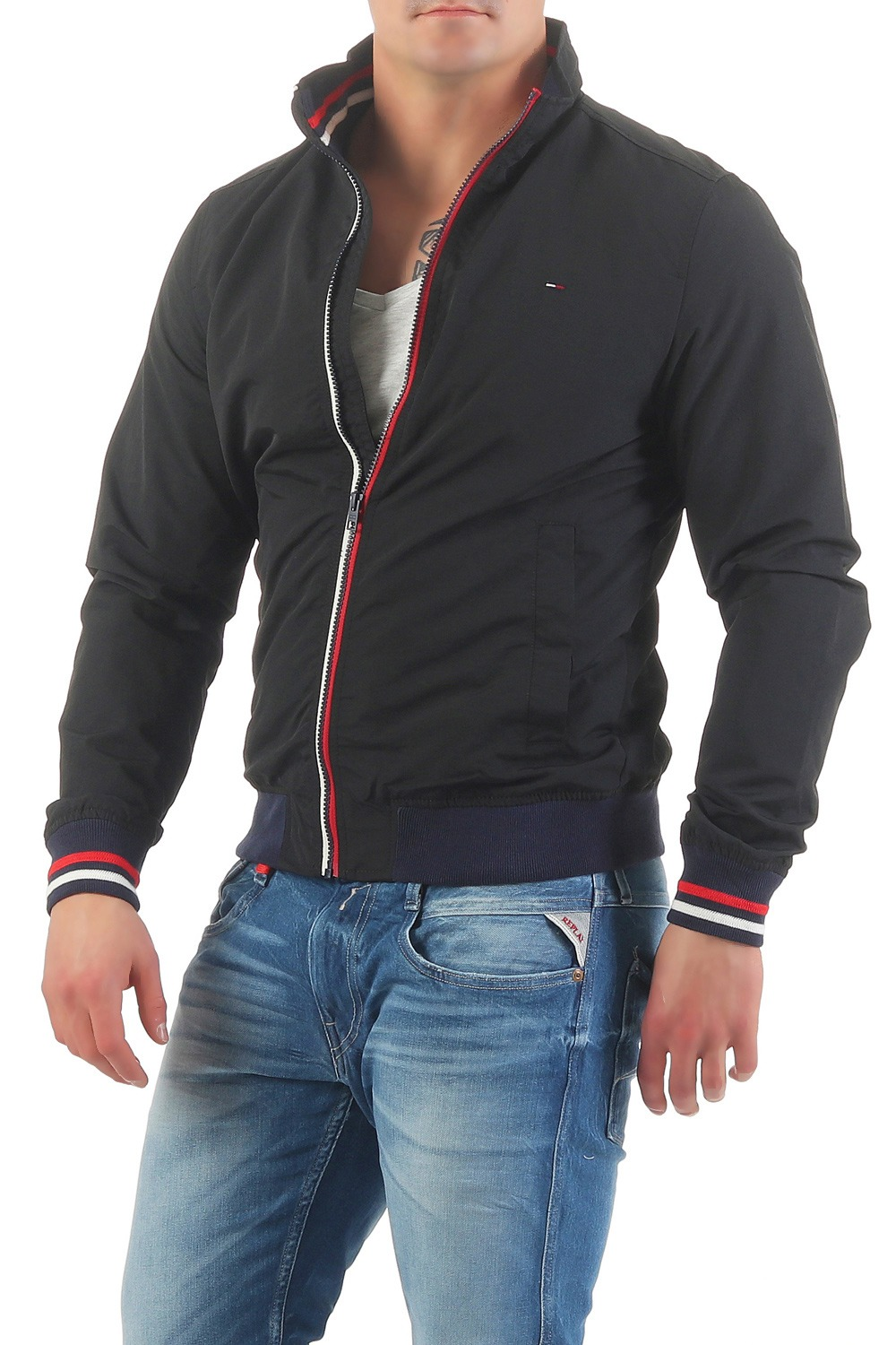 tommy hilfiger denim jacke casual bomber blouson bergangsjacke ebay. Black Bedroom Furniture Sets. Home Design Ideas