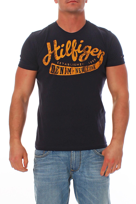 Tommy-Hilfiger-Denim-Federer-T-Shirt-Shirt-Tee-Gr-S-M-L-XL-XXL-Hemd