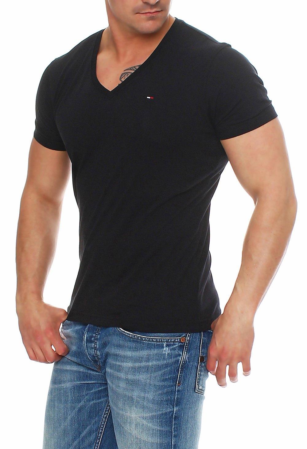 tommy hilfiger denim t shirt shirt v neck tee 1957888835 s m l xl xxl hemd ebay. Black Bedroom Furniture Sets. Home Design Ideas