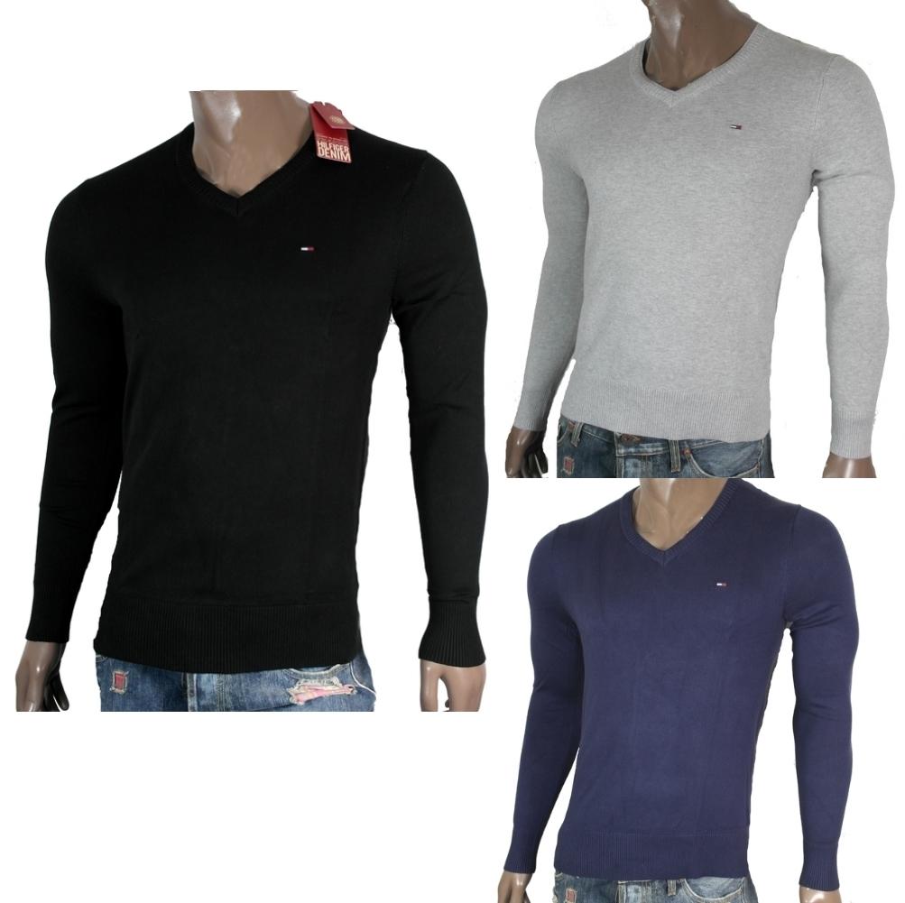 tommy hilfiger denim timber strick pullover sweater v neck. Black Bedroom Furniture Sets. Home Design Ideas