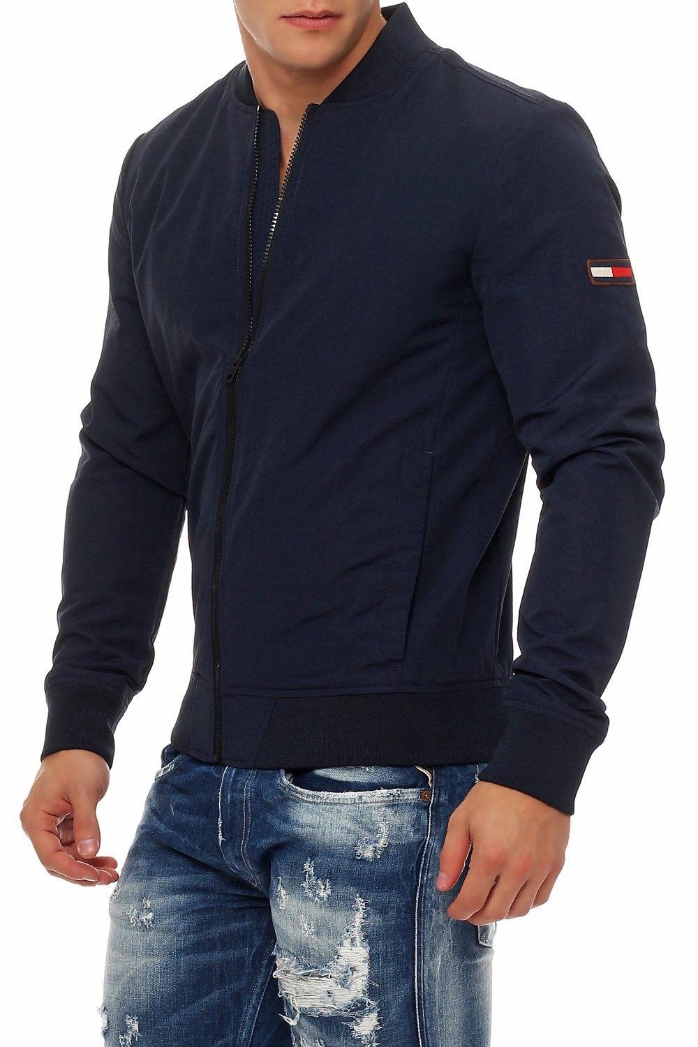 tommy hilfiger herren jacke ubergangsjacke navy modische. Black Bedroom Furniture Sets. Home Design Ideas