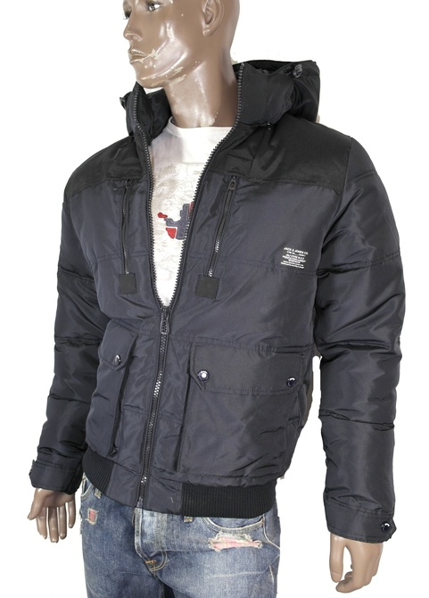 JACK-JONES-Herren-Winter-Jacke-Rider-Jacket-JKT-Gr-S-M-L-XL-XXL-Black-Navy