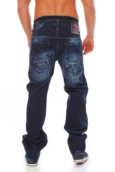 Détails sur G star raw Jeans radar Low Loose wisk Denim Medium Aged pantalon bleu afficher le titre d'origine