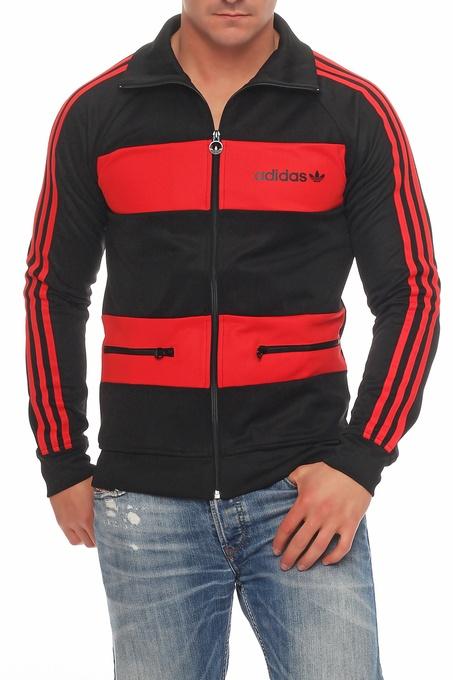 adidas z31472 track top jacke beckenbauer tt schwarz rot. Black Bedroom Furniture Sets. Home Design Ideas