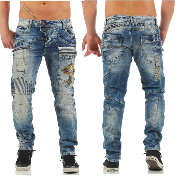 Cipo & Baxx Jeans Clubwear Designer Jeans CD 293 Hose