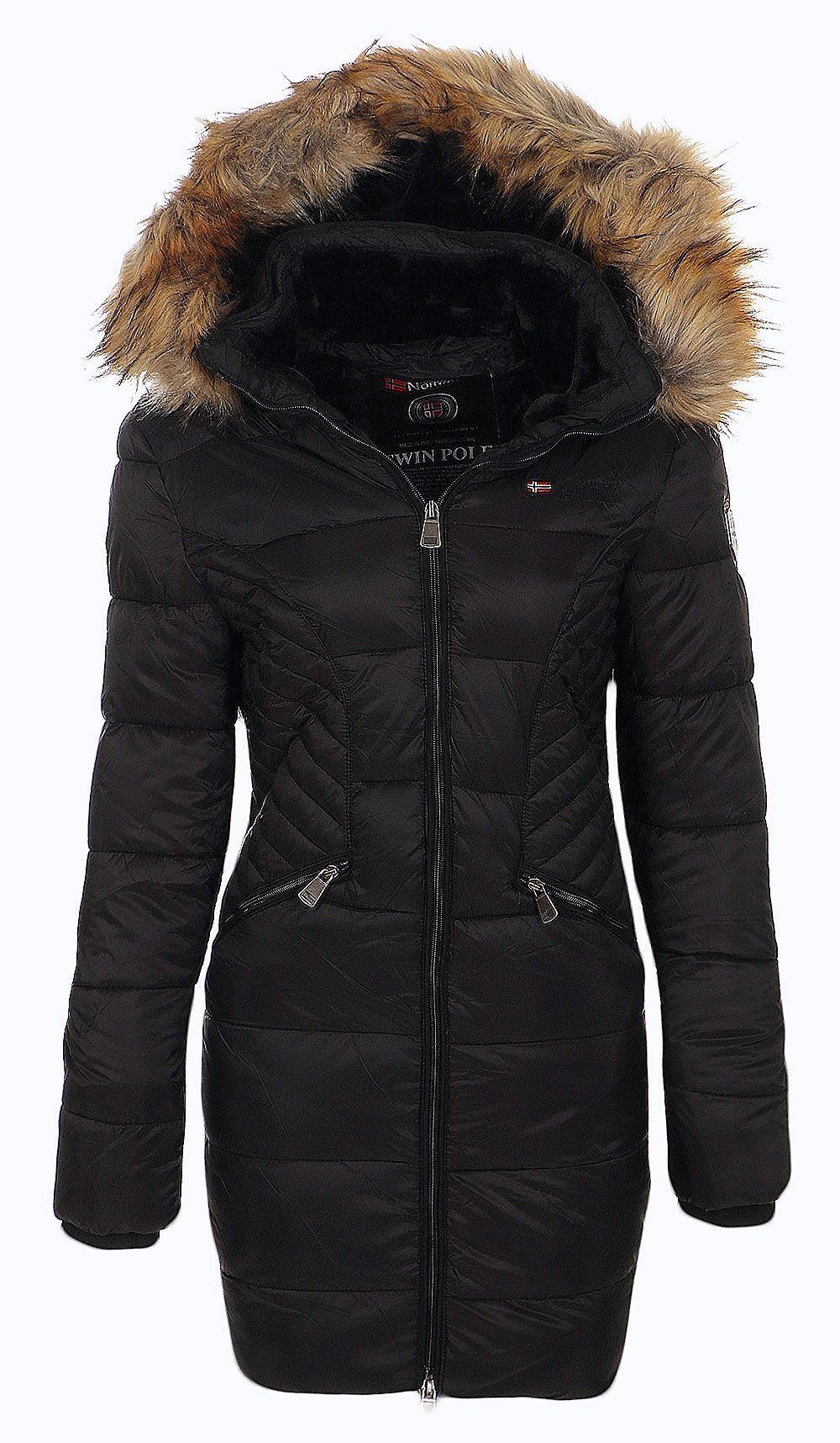 geographical norway damen winter mantel jacke coat parka. Black Bedroom Furniture Sets. Home Design Ideas