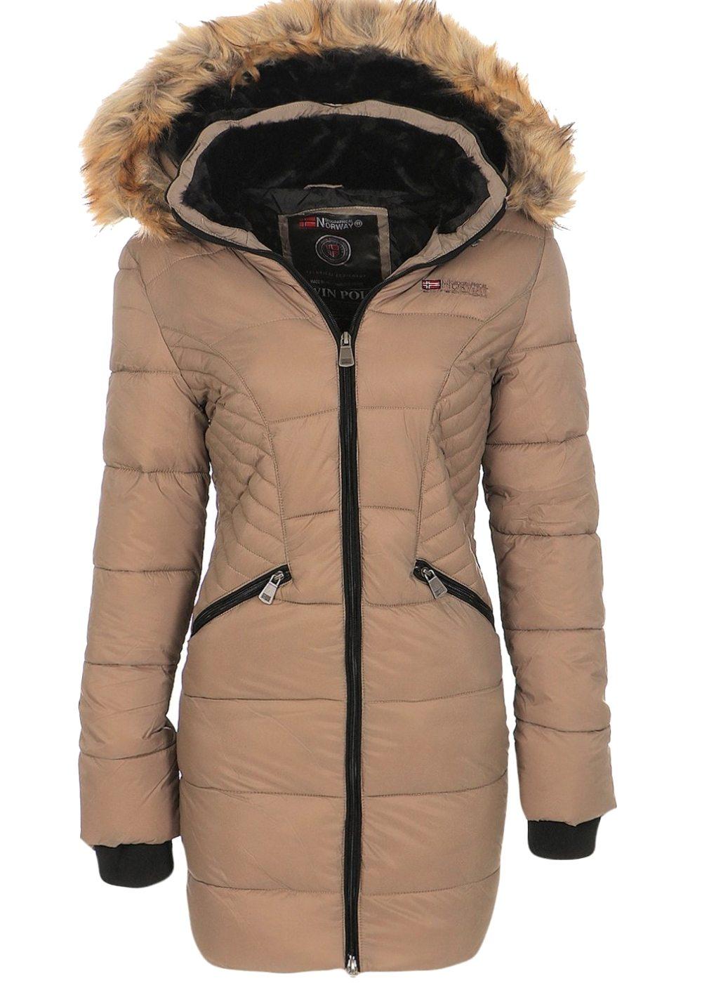 geographical norway damen winter mantel jacke coat parka steppmantel anorak ebay. Black Bedroom Furniture Sets. Home Design Ideas