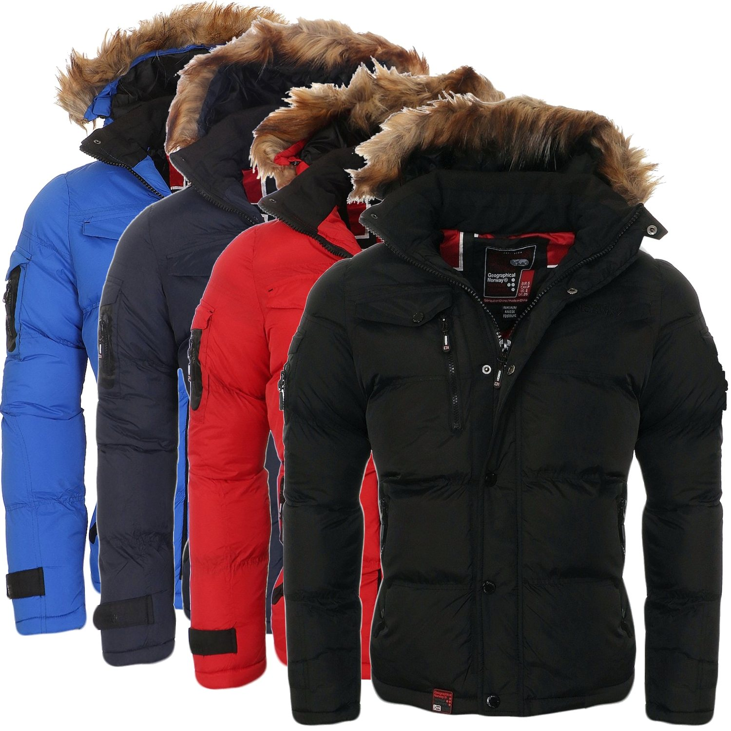 Geographical Norway Herren Winter Jacke Steppjacke S M L XL XXL Winterjacke