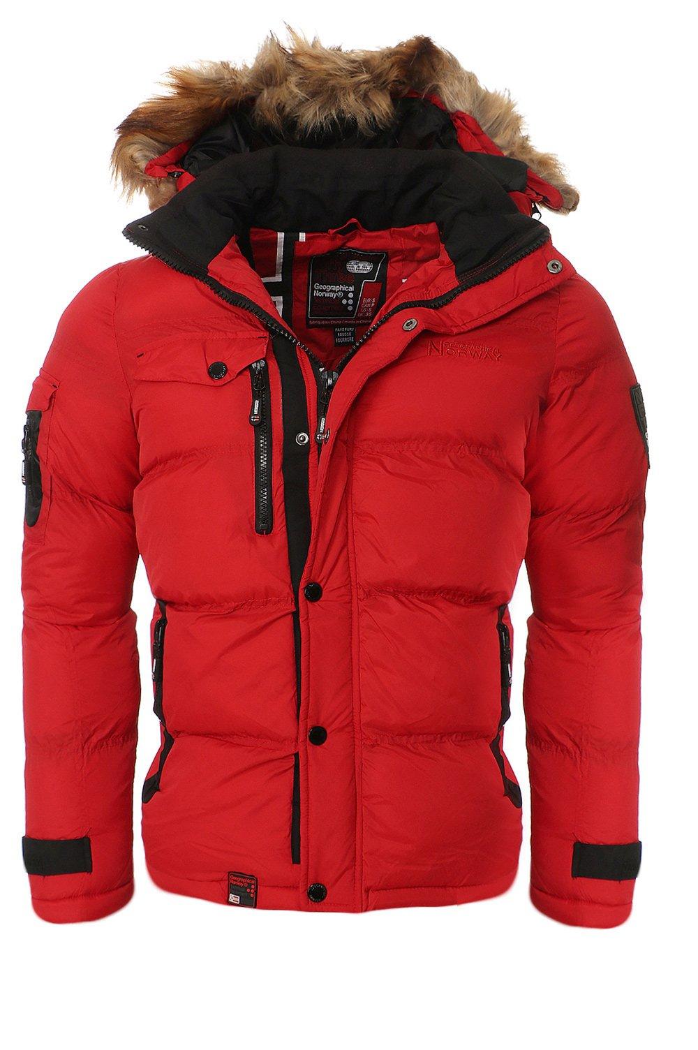 Geographical-Norway-Herren-Winterjacke-Steppjacke-Parka-Warme-Jacke-Outdoor