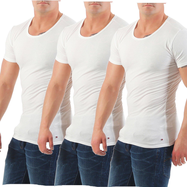 f398504043a607 Tommy Hilfiger T Shirt Herren 3er Pack