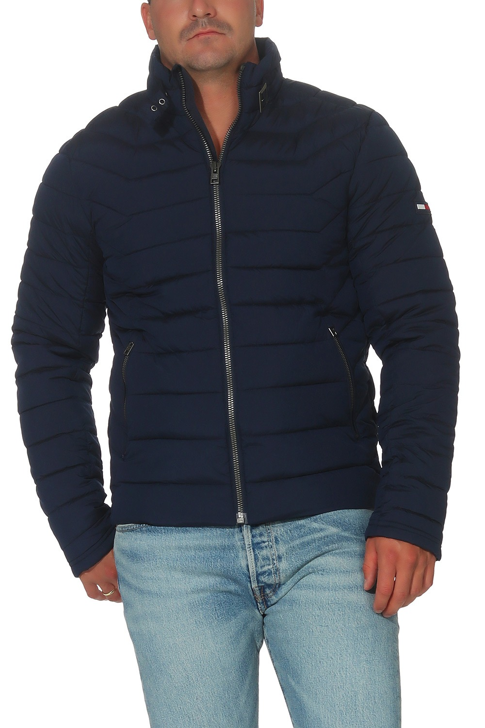 tommy hilfiger denim herren winterjacke padded motor jacke. Black Bedroom Furniture Sets. Home Design Ideas