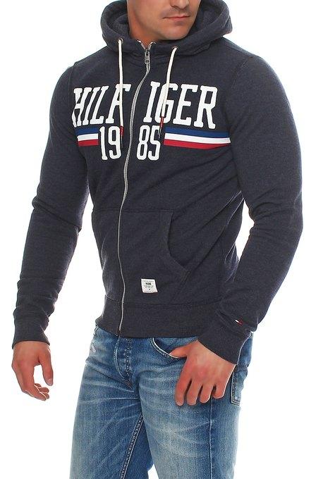 tommy hilfiger denim basic logo hoodie sweatjacke jacke s. Black Bedroom Furniture Sets. Home Design Ideas