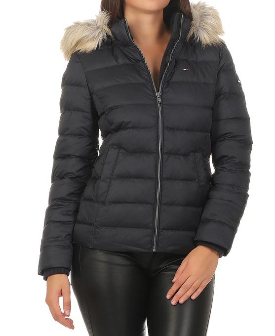 Werksverkauf anerkannte Marken Durchsuchen Sie die neuesten Kollektionen Szczegóły o Tommy Hilfiger Basic Down 2 Damen Winter Jacke Daunenjacke  schwarz