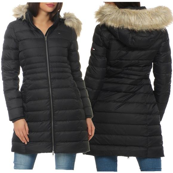tommy hilfiger denim damen winter mantel jacke. Black Bedroom Furniture Sets. Home Design Ideas