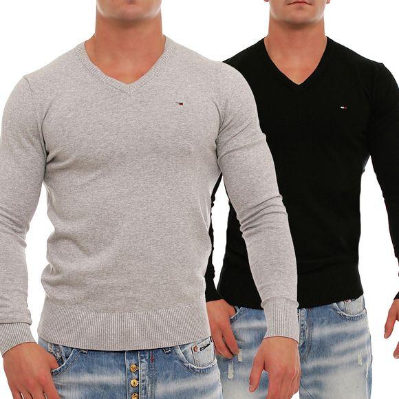 Tommy Hilfiger Denim Timber Strick Pullover Sweater V-Neck S M L XL ... 5ea99069db