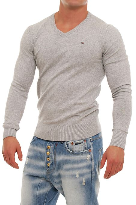 Tommy Hilfiger Denim Timber Strick Pullover Sweater V-Neck S M L XL XXL    eBay e5d2782d8a