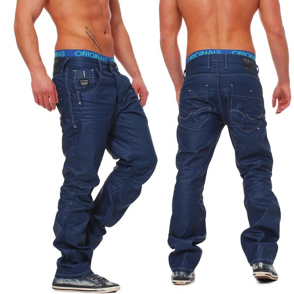 jack jones herren jeans boxy powel jos 500 medium blue. Black Bedroom Furniture Sets. Home Design Ideas