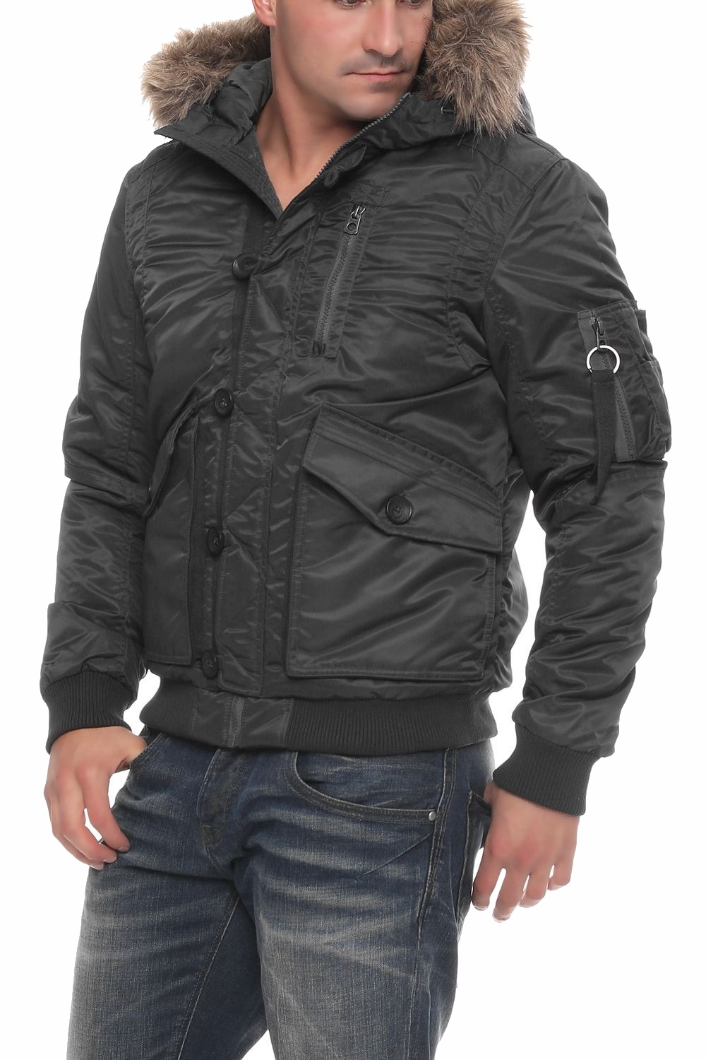 jack jones herren jacke jor force bomber jacket jkt winterjacke ebay. Black Bedroom Furniture Sets. Home Design Ideas