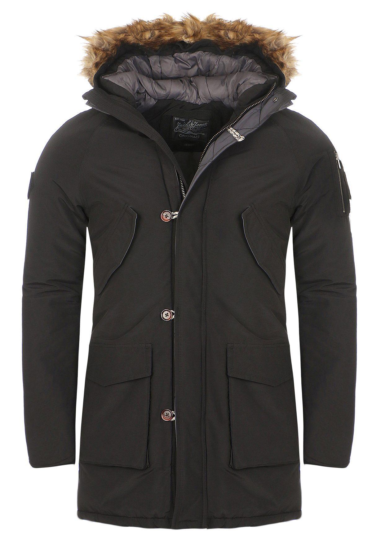 jack jones herren winterjacke jorforest parka jacket. Black Bedroom Furniture Sets. Home Design Ideas