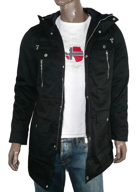 jack jones herren parka milo jacke jacket jkt m l xl xxl schwarz ebay. Black Bedroom Furniture Sets. Home Design Ideas