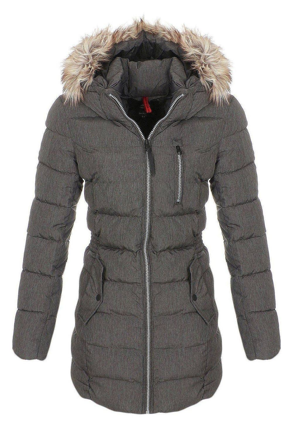 only damen wintermantel jacke dana mantel steppmantel xs s m l xl ebay